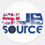 Engranaje del logotipo de SubSource Pegatina Redonda