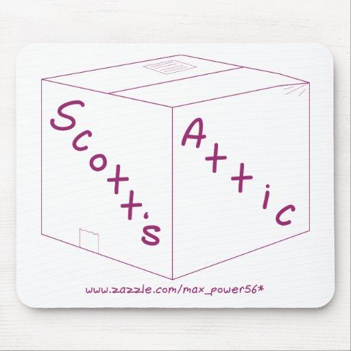 Engranaje del logotipo del ático de Scott Alfombrillas De Ratón