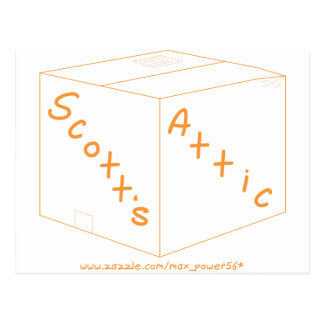 Engranaje del logotipo del ático de Scott Postales