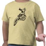 Engranaje del montar a caballo de la motocicleta camiseta