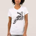 Engranaje del montar a caballo de la motocicleta camisetas