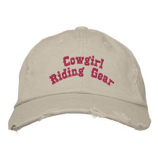 Engranaje del montar a caballo de la vaquera gorras de beisbol bordadas