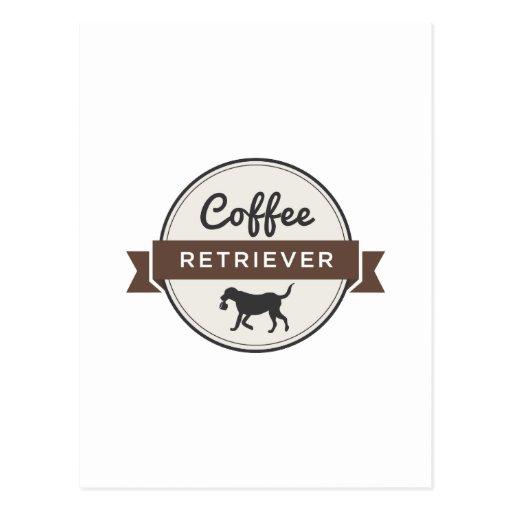 ¡Engranaje del perro perdiguero del café! Postales