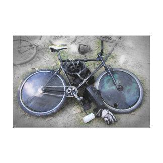 Engranaje del polo de la bici impresion en lona