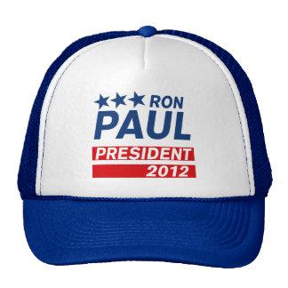 Engranaje del presidente 2012 campaña de Ron Paul Gorros