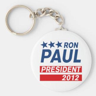 Engranaje del presidente 2012 campaña de Ron Paul Llavero Redondo Tipo Pin