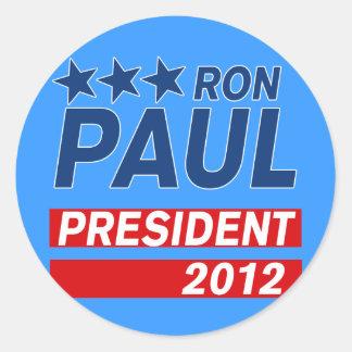 Engranaje del presidente 2012 campaña de Ron Paul Pegatina Redonda