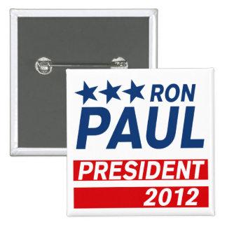 Engranaje del presidente 2012 campaña de Ron Paul Pin Cuadrado