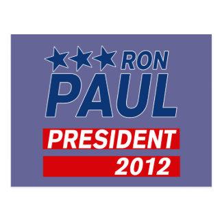 Engranaje del presidente 2012 campaña de Ron Paul Postales