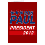 Engranaje del presidente 2012 campaña de Ron Paul Tarjeton