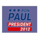 Engranaje del presidente 2012 campaña de Ron Paul Postal