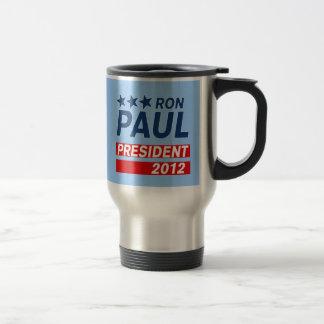 Engranaje del presidente 2012 campaña de Ron Paul Taza De Viaje