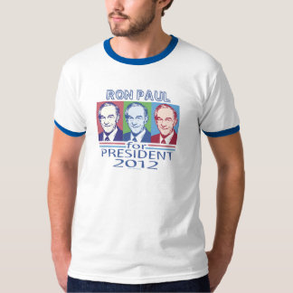 Engranaje del presidente 2012 de Ron Paul Playera