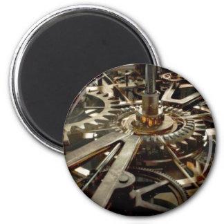 Engranaje del rotor de la maquinaria del VINTAGE Imán Redondo 5 Cm