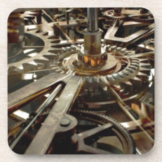 Engranaje del rotor de la maquinaria del VINTAGE Posavasos