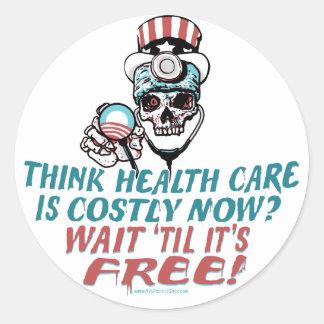 Engranaje del susto de la salud de Obama por Pegatina Redonda