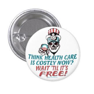 Engranaje del susto de la salud de Obama por YesPo Pin Redondo 2,5 Cm