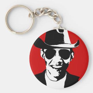 Engranaje del vaquero de Barack Obama Llavero Redondo Tipo Pin