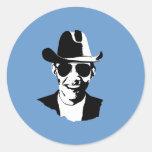 Engranaje del vaquero de Barack Obama Pegatina Redonda