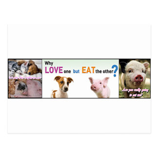 ¿Engranaje del vegano cuál es la diferencia? Tarjeta Postal