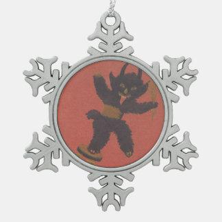 Engranaje diferencial de Krampus Adorno De Peltre En Forma De Copo De Nieve