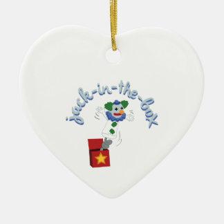 Engranaje diferencial adorno de cerámica en forma de corazón