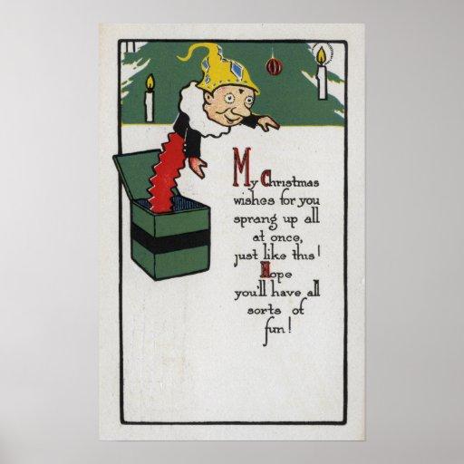 Engranaje diferencial que envía deseos del navidad póster