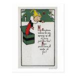 Engranaje diferencial que envía deseos del navidad tarjeta postal