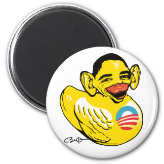 Engranaje divertido de Potus Obama del presidente  Imán Redondo 5 Cm