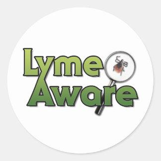 Engranaje enterado de Lyme Pegatina Redonda