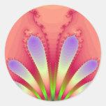 Engranaje femenino del diseño del fractal de la ex pegatinas