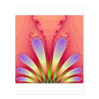 Engranaje femenino del diseño del fractal de la tarjeta postal