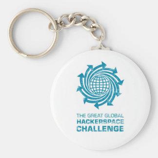 Engranaje global de Hackerspace Llavero Redondo Tipo Pin