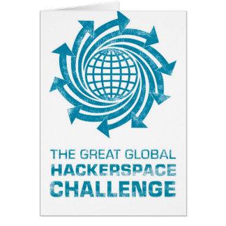Engranaje global de Hackerspace Tarjeta De Felicitación