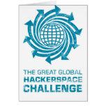 Engranaje global de Hackerspace Tarjetas