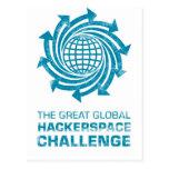Engranaje global de Hackerspace Tarjetas Postales
