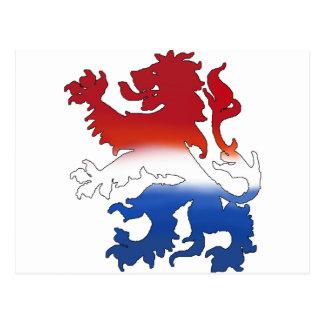 Engranaje holandés de la bandera del león holandés postales