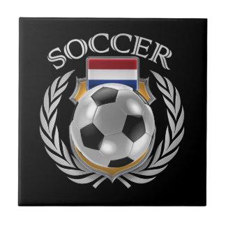 Engranaje holandés de la fan del fútbol 2016 azulejo cuadrado pequeño