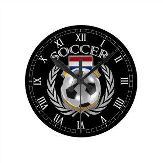 Engranaje holandés de la fan del fútbol 2016 reloj redondo mediano