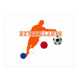 Engranaje holandés del balón de fútbol de futbolis tarjetas postales