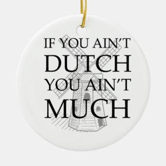 Engranaje holandés del orgullo ornaments para arbol de navidad