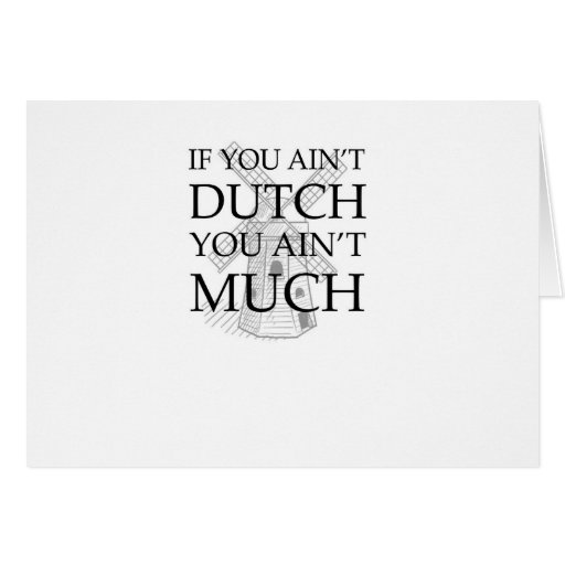 Engranaje holandés del orgullo tarjeton