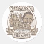 Engranaje independiente de la cumbre de la cerveza pegatinas redondas