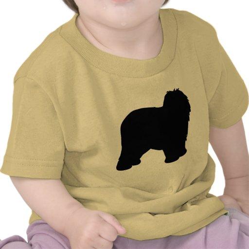 Engranaje inglés viejo del perro pastor camisetas