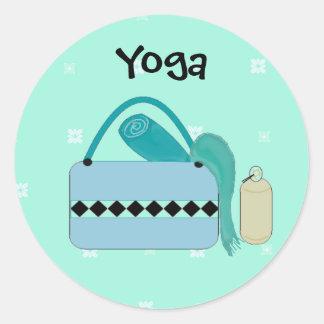 Engranaje lindo de la yoga etiquetas