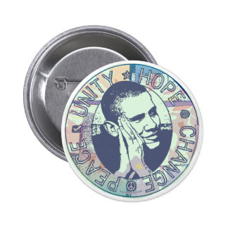Engranaje maravilloso de Obama 2008 Pin Redondo 5 Cm