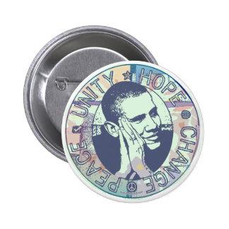 Engranaje maravilloso de Obama 2008 Pin Redondo De 2 Pulgadas