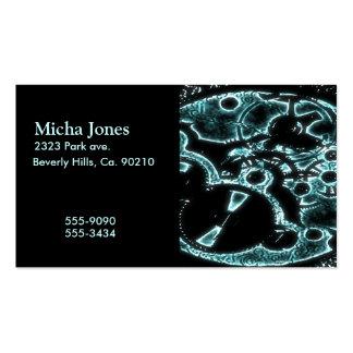 Engranaje mecánico del flash de radiografía tarjetas de visita