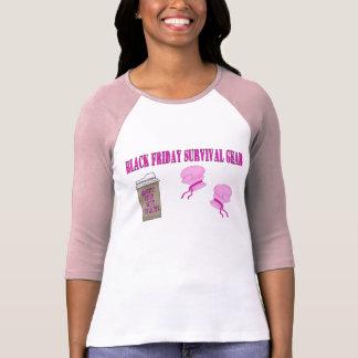 Engranaje NEGRO de la supervivencia de VIERNES Camisetas