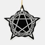 engranaje pagano adorno de cerámica en forma de estrella